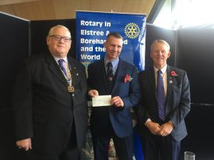 Rotary President, Nick Male, with Bob Williams, and Scott Maclachlan