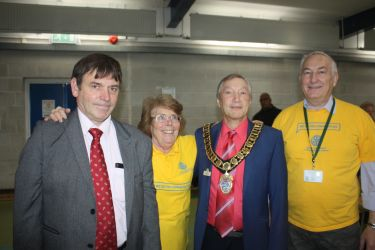 The Mayor of Elstree & Borehamwood with a group from the club.