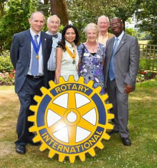 with Rotary Club of Mill Hill